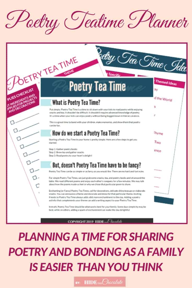 Poetry Teatime Planner ~ Adding Poetry to Your Homeschool