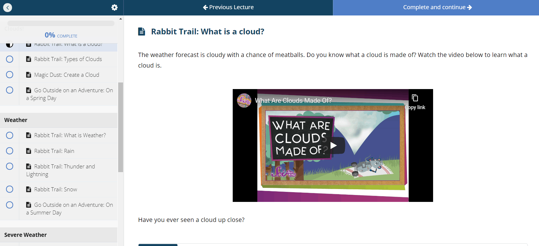Rabbit Trail Screenshot