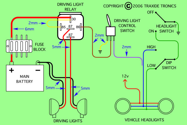 wiring diagram needed to install piaa 80 series lamps on 46