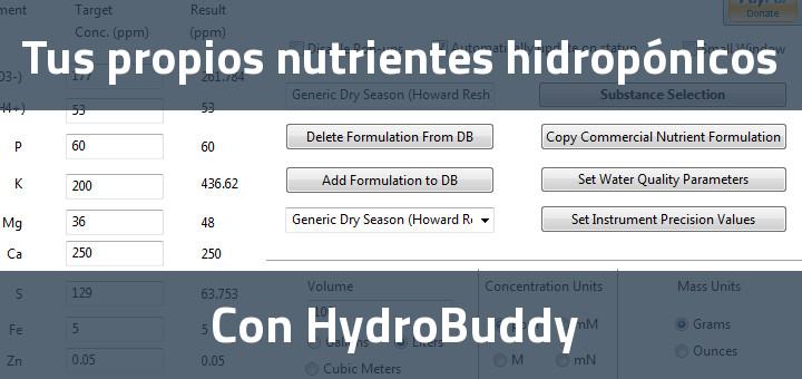 Nutrientes hidropónicos