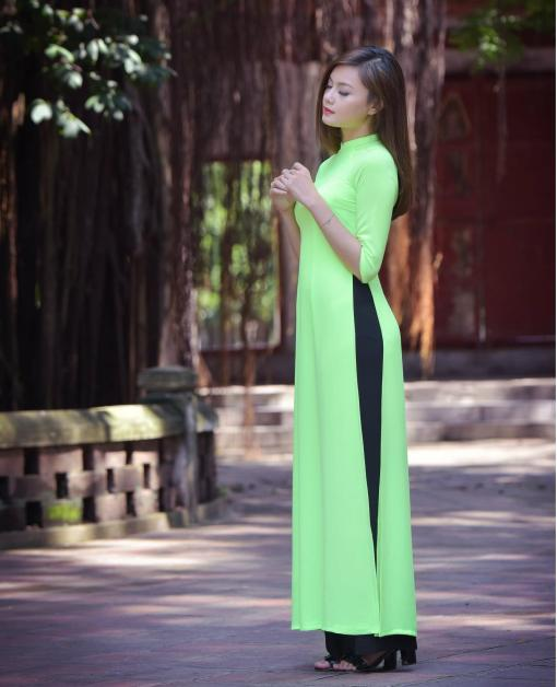 ao-dai-lime-double-layers-chiffon