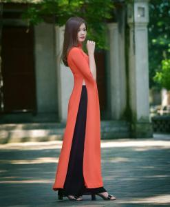 ao-dai-orange-black