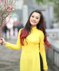 Ao Dai Vietnam Yellow Chiffon 2