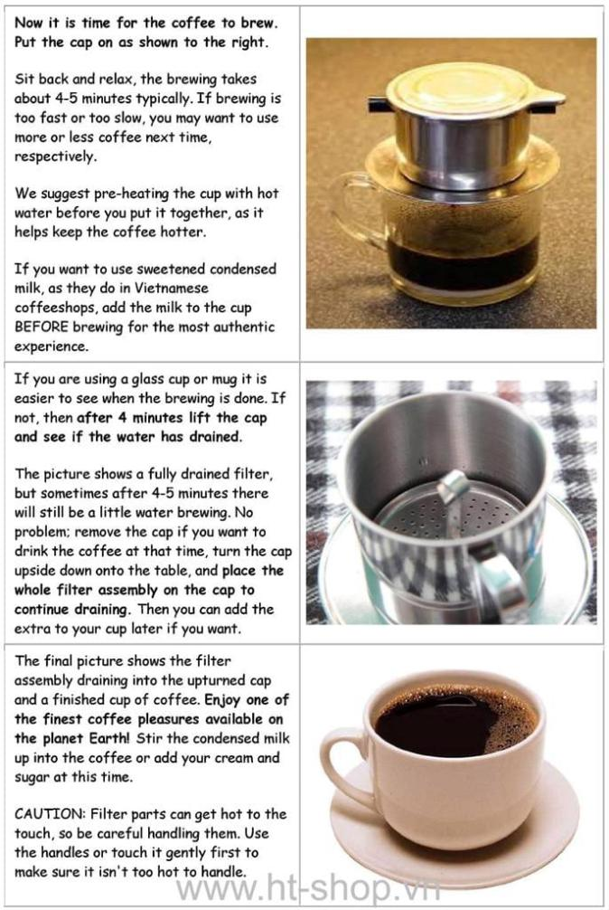 vietnam coffee brewing instruction 4