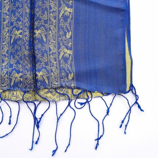 double-layer-women-scarf-silkworm-blue-yellow-pattern