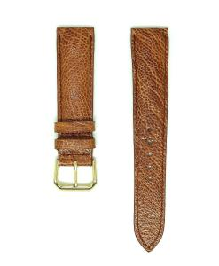 Light Brown Vietnam Ostrich Leather Wristwatch Strap