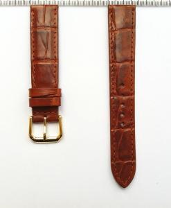 Mars Orange Red Alligator Watch Strap 18mm