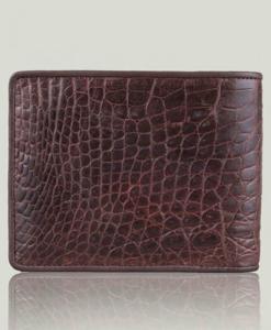 Bifold Crocodile Alligator Chocolate Men Wallet