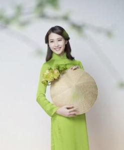 Green Silk Ao Dai Vietnamese
