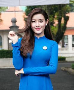 Blue White Ao Dai Vietnam