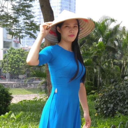 Vietnam Ao Dai Custom Made Caribbean Chiffon