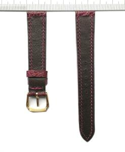 Vietnam-ostrich-watch-strap-16mm-purple-grain-pattern
