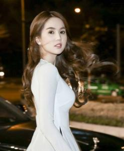 Ao Dai Tailor Shop White Chiffon