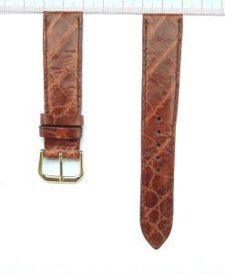 Brown Crocodile Watch Strap 20mm