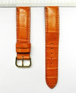 Crocodile Watch Straps 20mm Yellow Brown