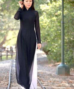 vietnam-ao-dai-black-sheer-white-pant-double