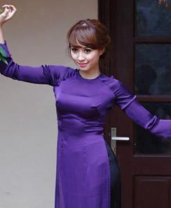 Ao Dai Vietnam King Blue Silk