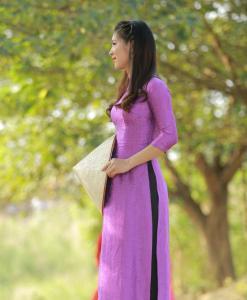 Ao Dai Vietnam natural silkworm 2