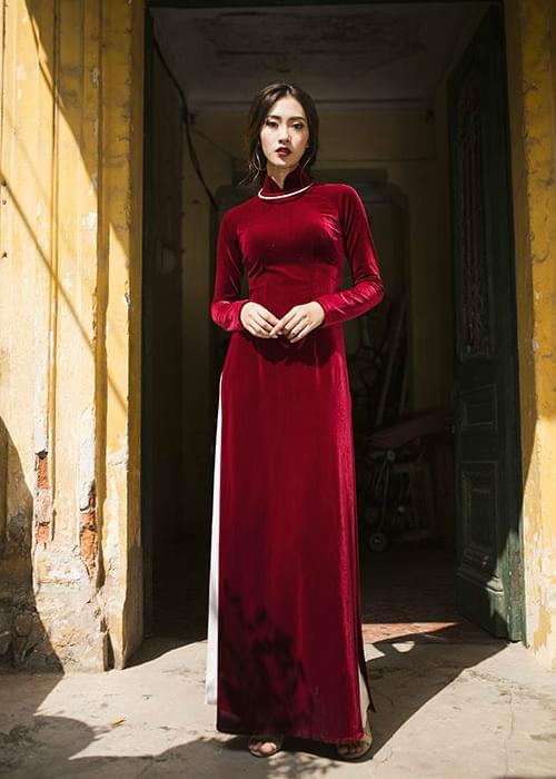 Ao Dai Vietnam Velvet Tailor Made 2