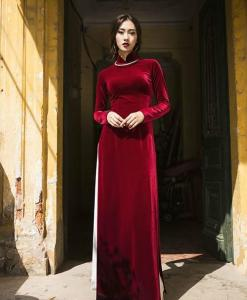 Ao Dai Vietnam Velvet Tailor Made 2