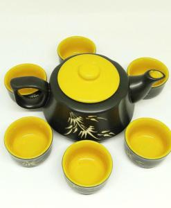 Bat Trang Pottery Tea Set Yellow