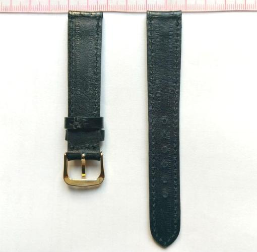 Black Crocodile Wristwatch Strap Leather 18mm hien thao