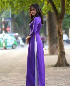 Blue White Ao Dai Vietnam Custom Made 3