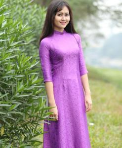 Bubble Gum Ao Dai Vietnam Silkworm 5