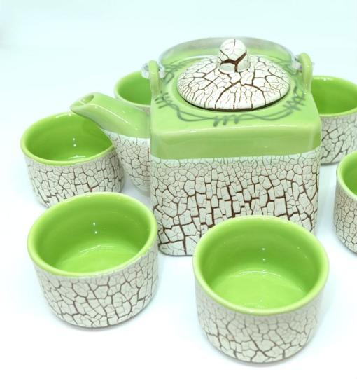 Green Cracked Glaze Bat Trang Ceramic Tea Set  2