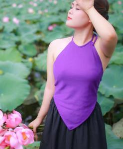 Light Violet Traditional Vietnam Ao Yem 2