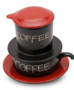 Red Gravity Bat Trang Ceramic Coffee Filter