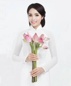 White Ao Dai Vietnam Double Layers