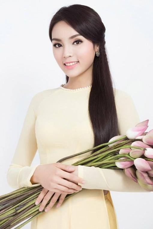 yellow ivory chiffon ao dai vietnam neck decoration 3