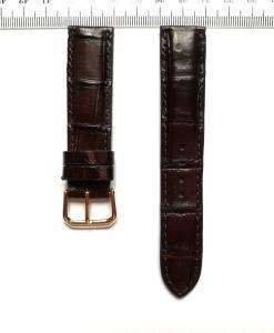 Dark Brown Crocodile Wrist Watch Strap 20mm