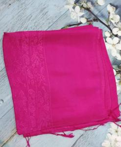 Red Pink Women Scarves Silkworm