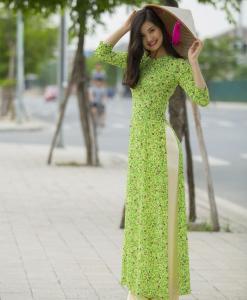 Light Green Vietnam Ao Dai Custom Made 4