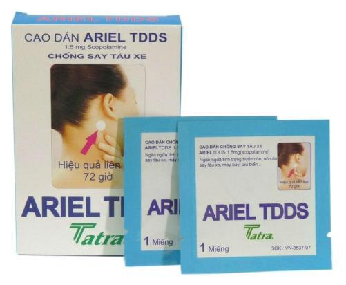 Patch contre le mal des transports Ariel TDDS 3