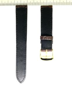 Crocodile Wristwatch Strap 18mm Chocolate Color 1