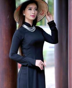 Sell Ao Dai Viet Nam Mysterious Black