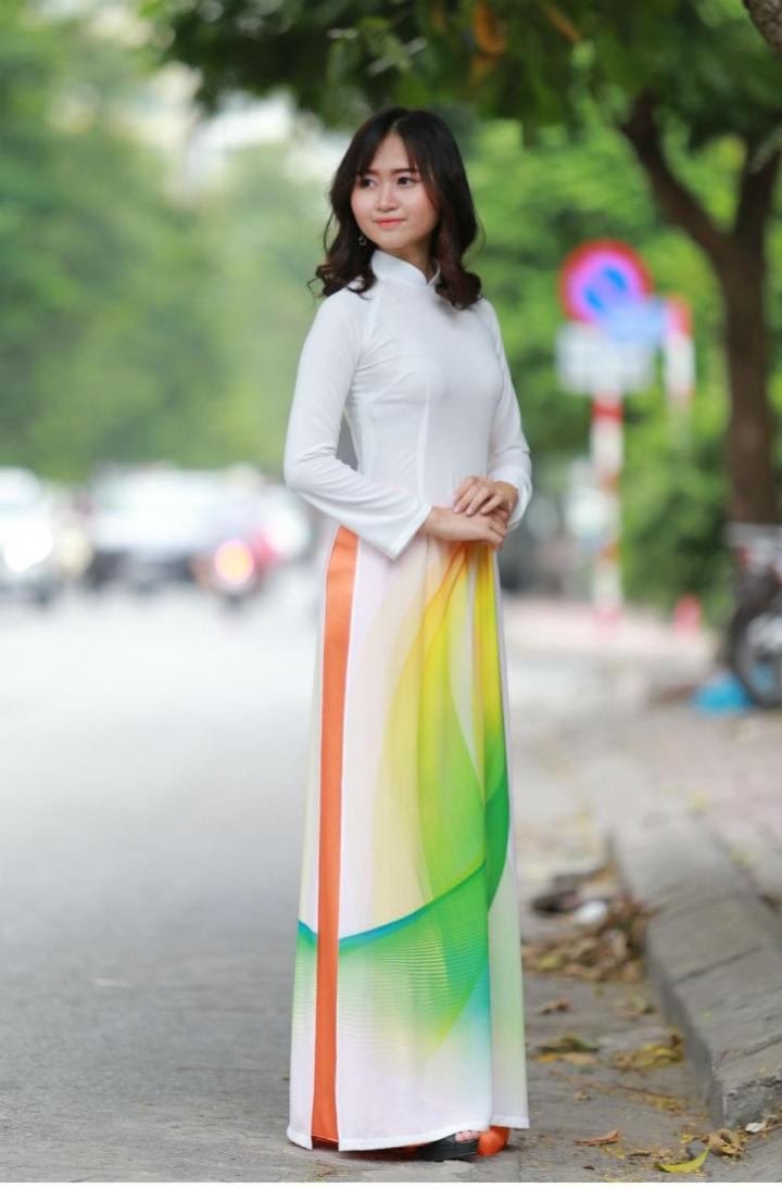 Ao Dai For Sale Vietnam 3D Korea Chiffon 1