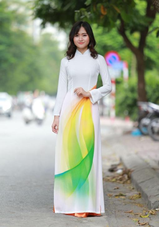 Ao Dai For Sale Vietnam 3D Korea Chiffon 3