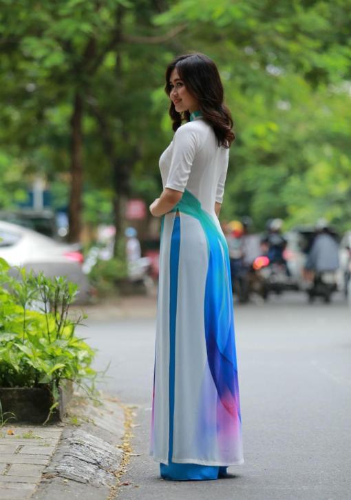 Ao Dai Vietnam Short Sleeves 2