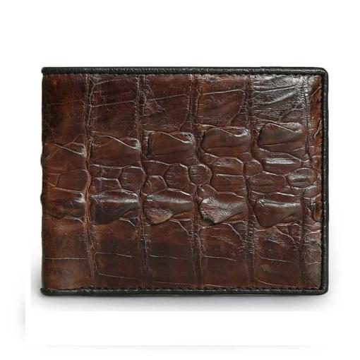Dark Brown Crocodile Men Wallet