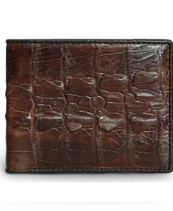 Dark Brown Crocodile Men Wallet