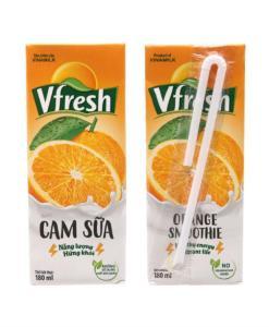 Orange Milk Smoothie Vfresh