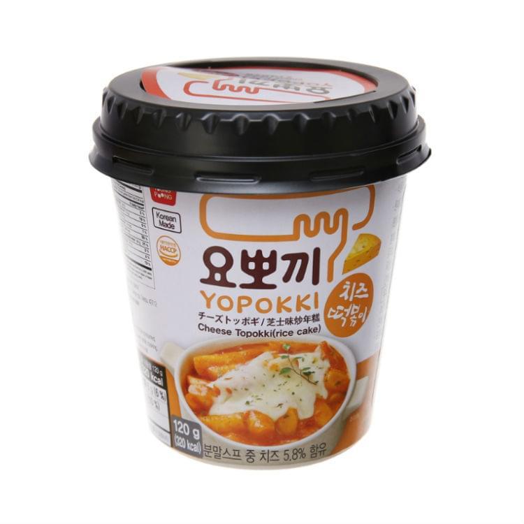 Yopokki Cheese Flavor Topokki Rice Cake, Cup 120g