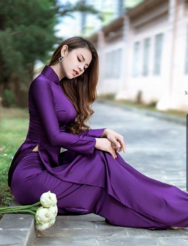 Purple Ao Dai Dress 1