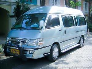 Reizen met de minibus door Thailand, erg handig