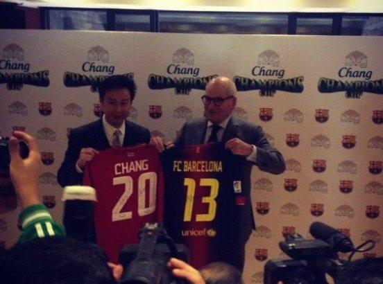 Ook FC Barcelona deze zomer naar Thailand