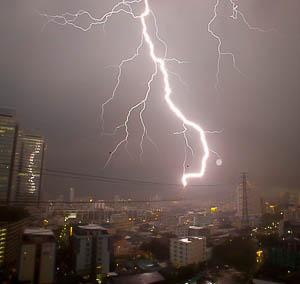 Onweer in Bangkok, een avontuur